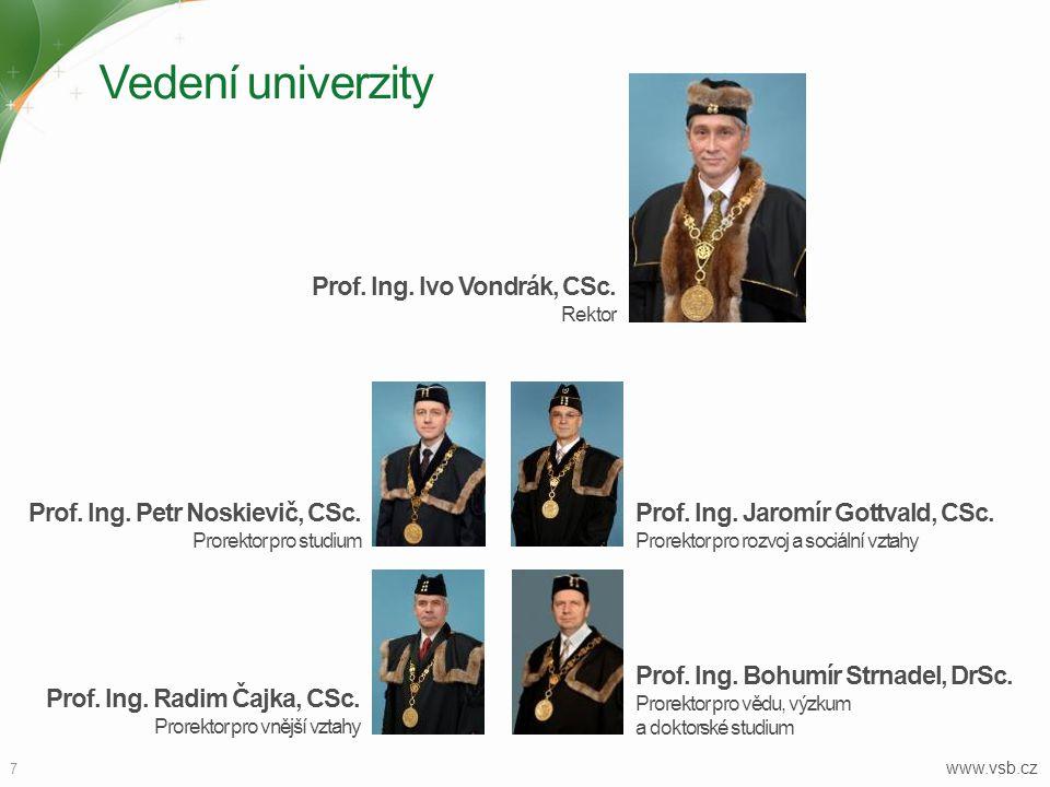 Vedení univerzity Prof. Ing. Ivo Vondrák, CSc.