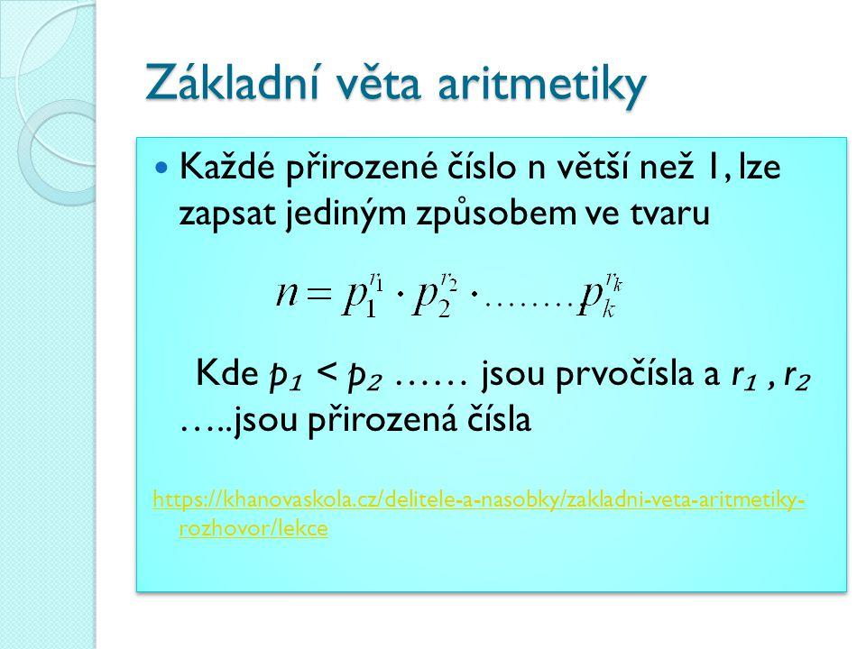 Základní věta aritmetiky