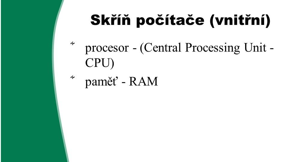 Skříň počítače (vnitřní)