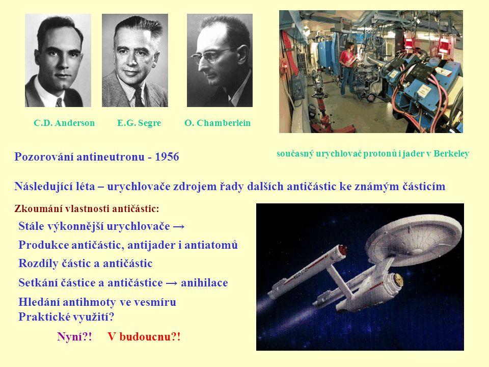 Pozorování antineutronu - 1956