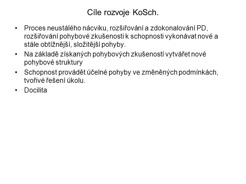 Cíle rozvoje KoSch.