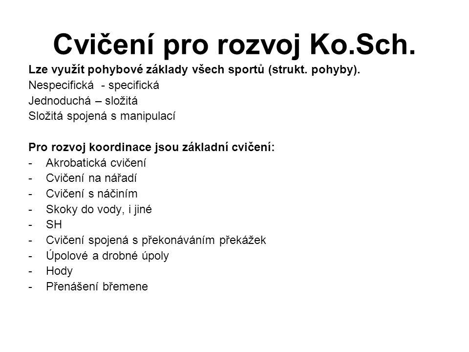 Cvičení pro rozvoj Ko.Sch.