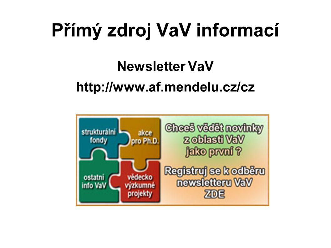 Přímý zdroj VaV informací