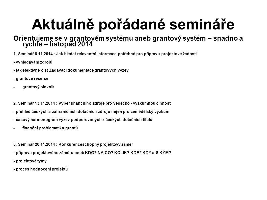 Aktuálně pořádané semináře
