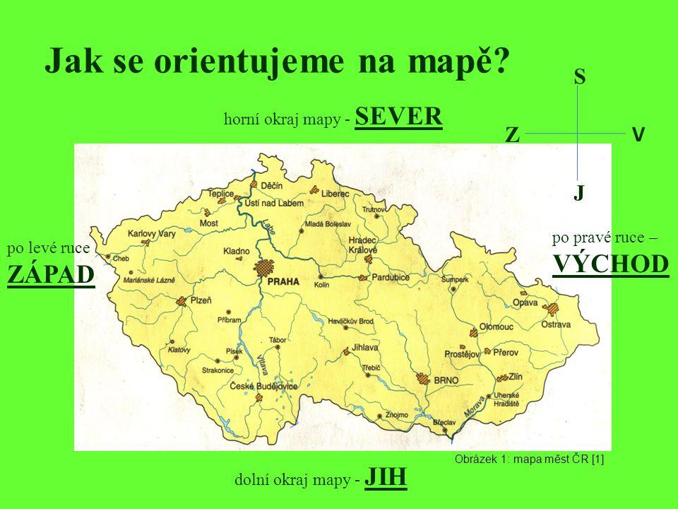 Jak se orientujeme na mapě