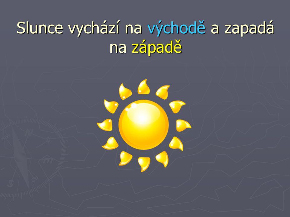 Slunce vychází na východě a zapadá na západě