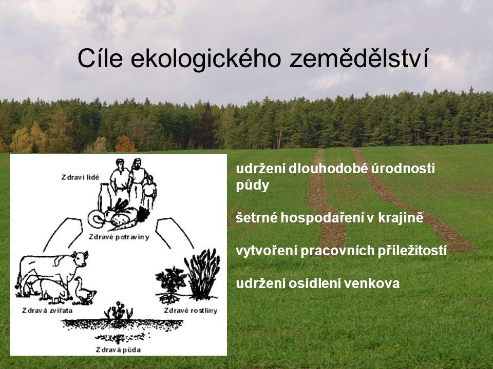 Cíle ekologického zemědělství