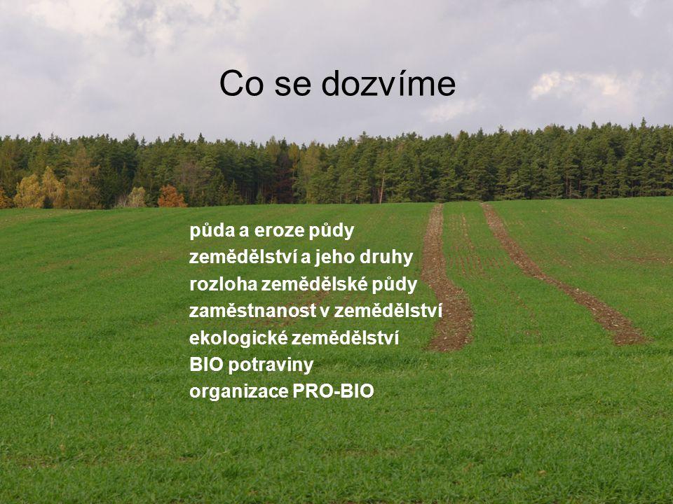 Co se dozvíme půda a eroze půdy zemědělství a jeho druhy