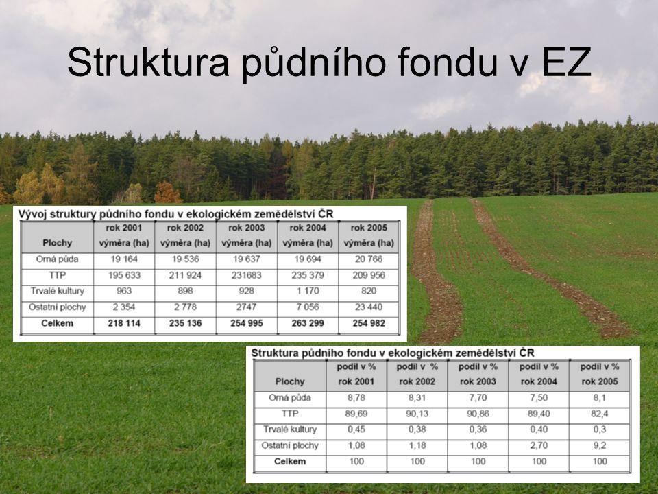 Struktura půdního fondu v EZ