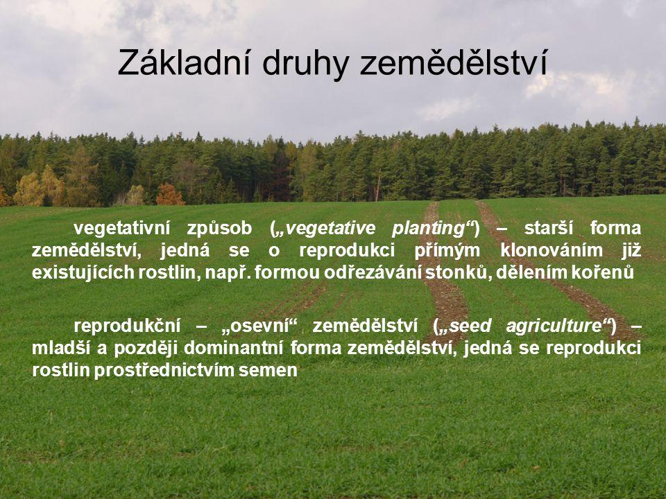 Základní druhy zemědělství