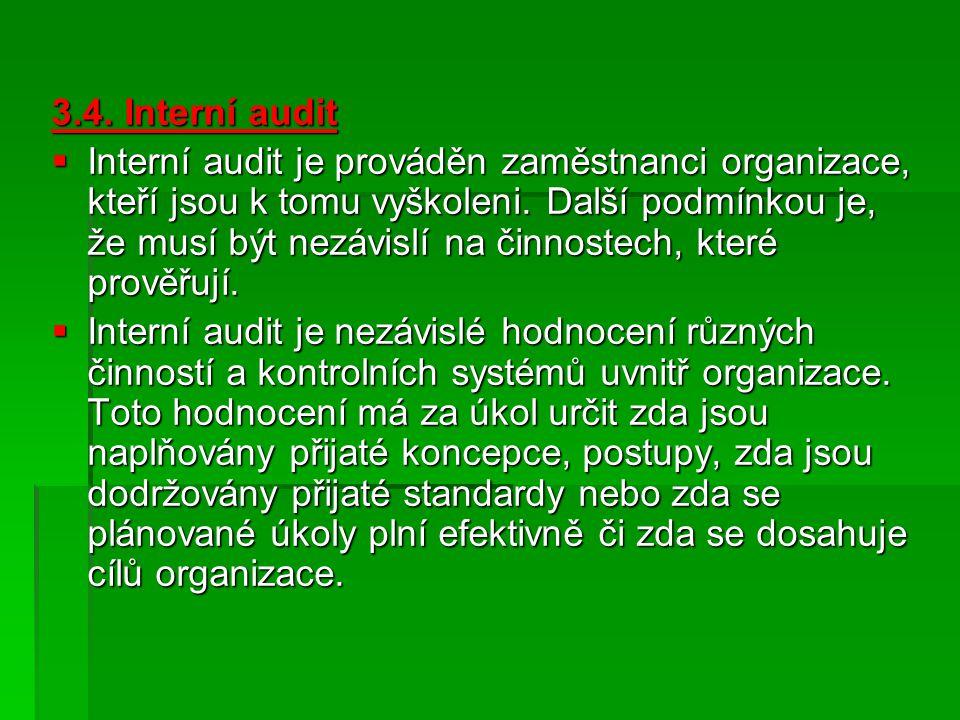 3.4. Interní audit