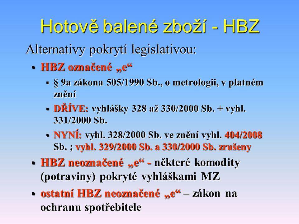 Hotově balené zboží - HBZ