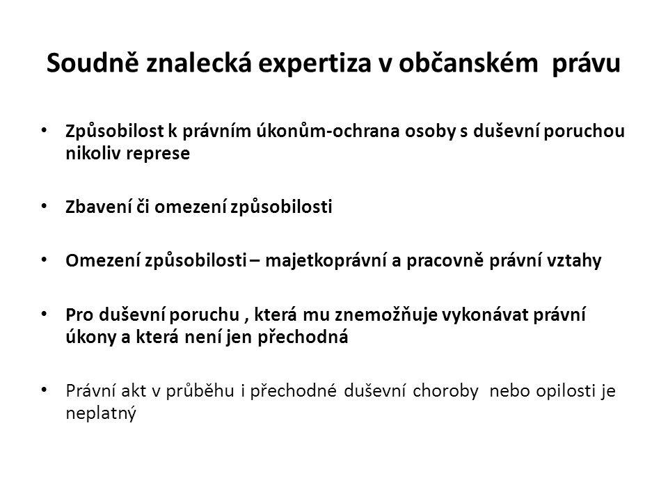 Soudně znalecká expertiza v občanském právu