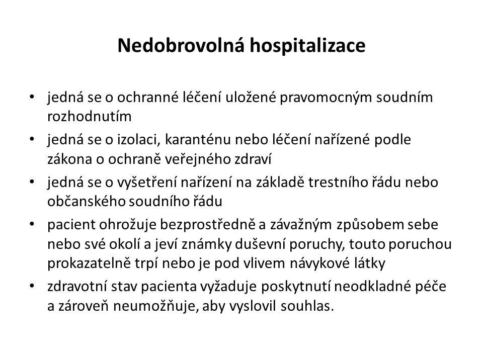 Nedobrovolná hospitalizace