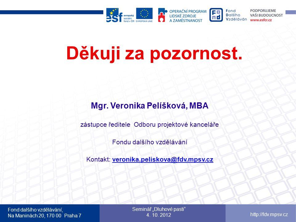 Mgr. Veronika Pelíšková, MBA