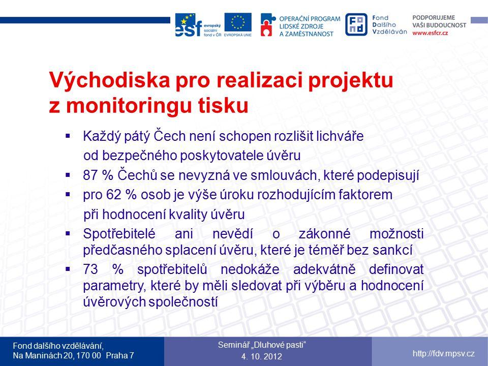 Východiska pro realizaci projektu z monitoringu tisku