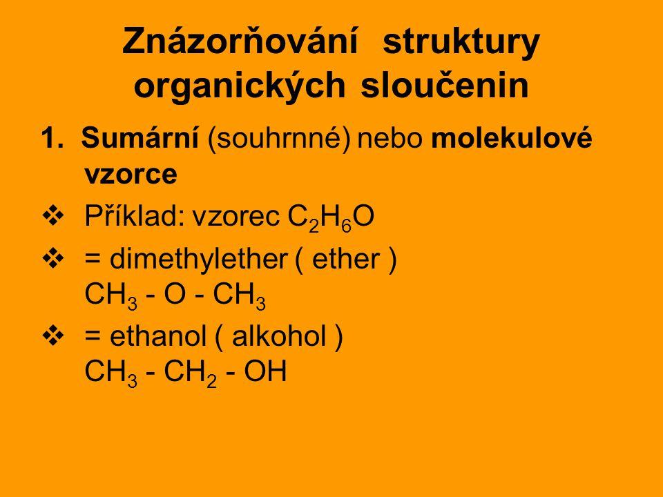 Znázorňování struktury organických sloučenin