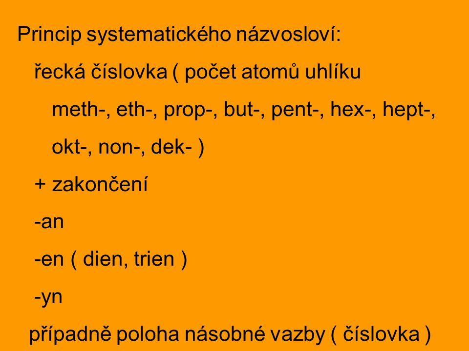 Princip systematického názvosloví: