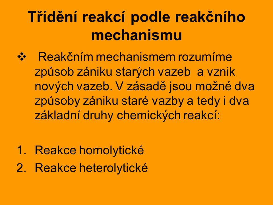 Třídění reakcí podle reakčního mechanismu