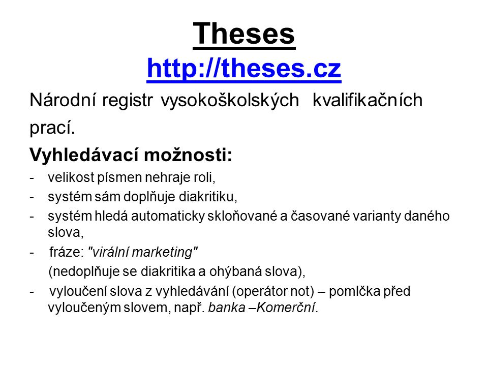 Theses http://theses.cz