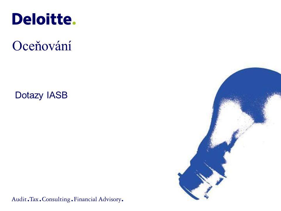 Oceňování Dotazy IASB