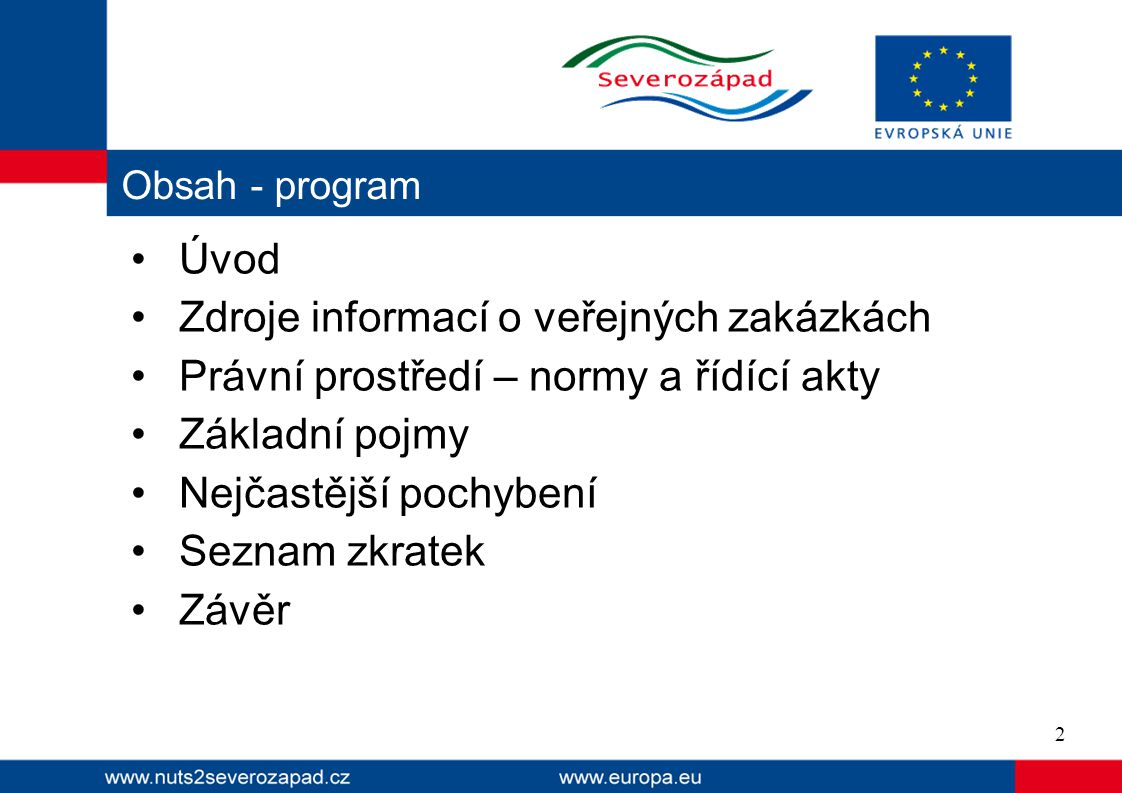 Zdroje informací o veřejných zakázkách