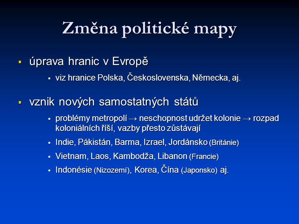 Změna politické mapy úprava hranic v Evropě