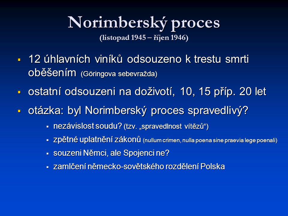 Norimberský proces (listopad 1945 – říjen 1946)