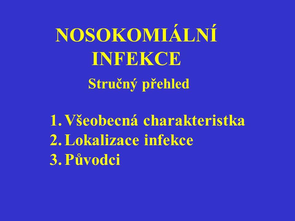 NOSOKOMIÁLNÍ INFEKCE Stručný přehled