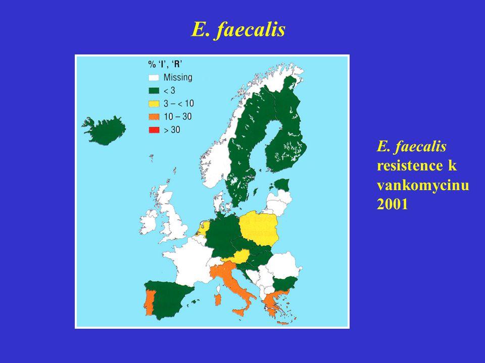 E. faecalis E. faecalis resistence k vankomycinu 2001