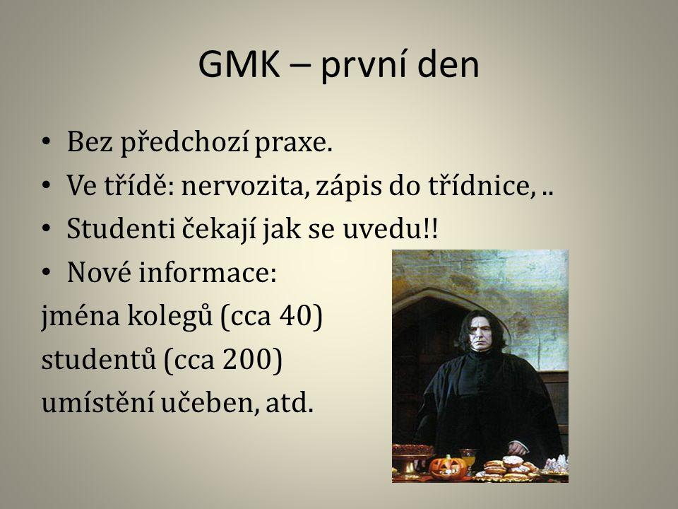 GMK – první den Bez předchozí praxe.