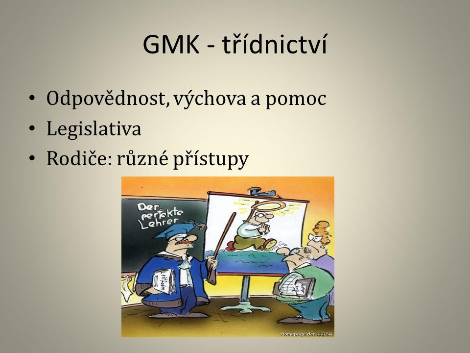 GMK - třídnictví Odpovědnost, výchova a pomoc Legislativa