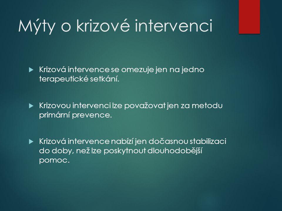Mýty o krizové intervenci