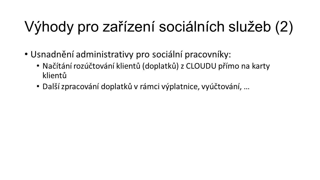Výhody pro zařízení sociálních služeb (2)