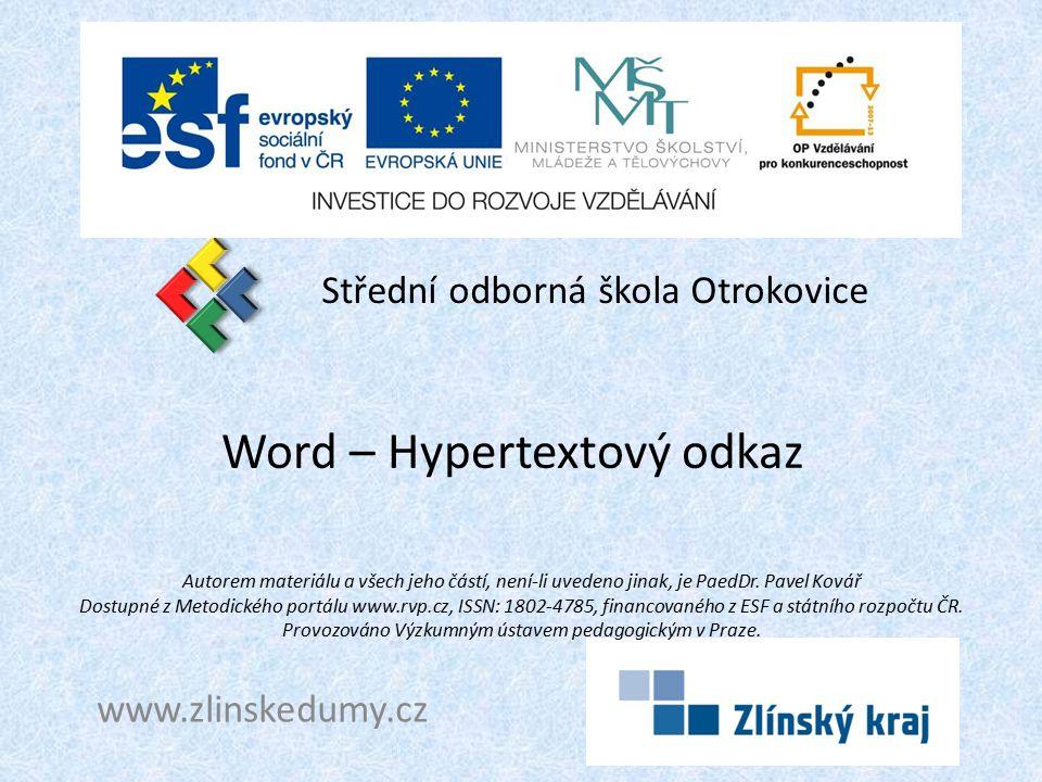 Word – Hypertextový odkaz