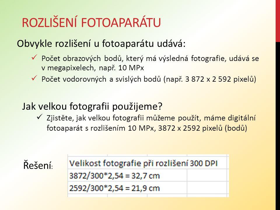 Rozlišení fotoaparátu