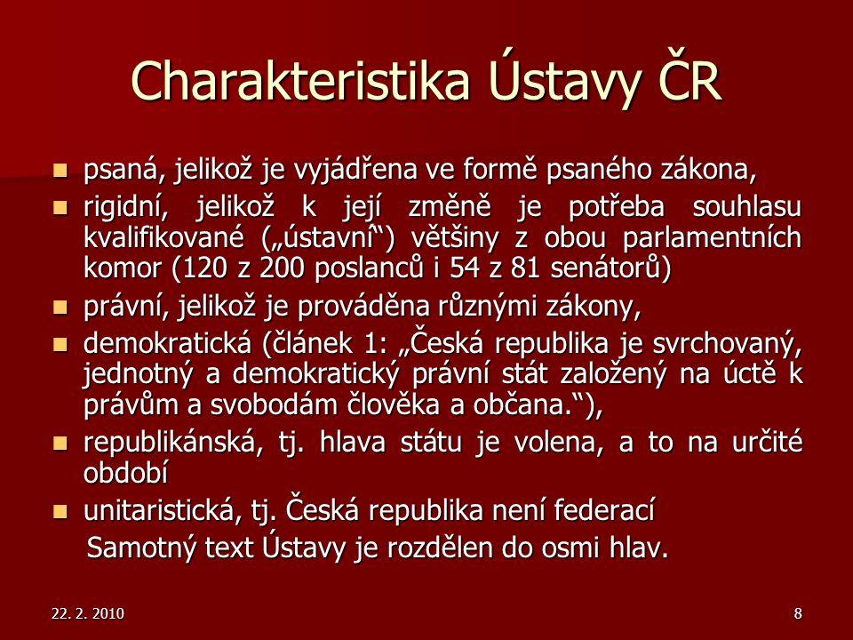 Charakteristika Ústavy ČR