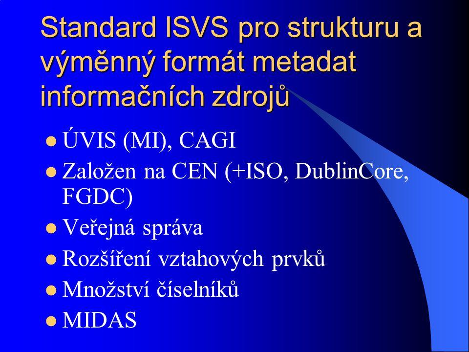 Standard ISVS pro strukturu a výměnný formát metadat informačních zdrojů