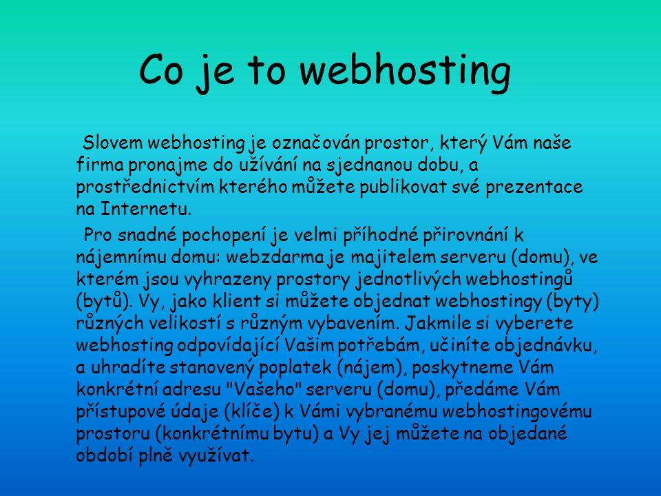 Co je to webhosting