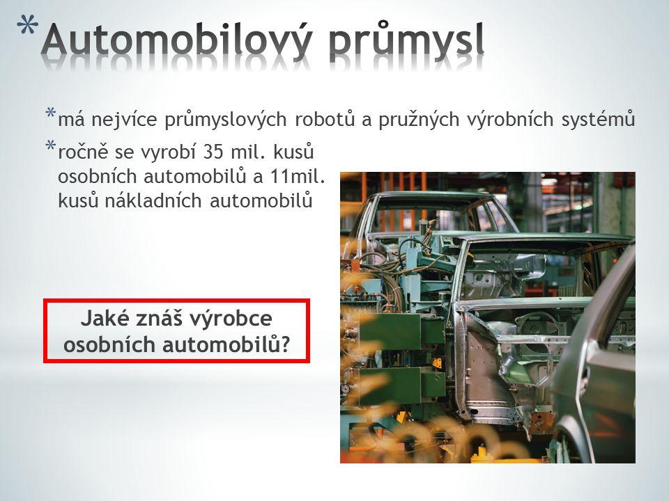 Jaké znáš výrobce osobních automobilů