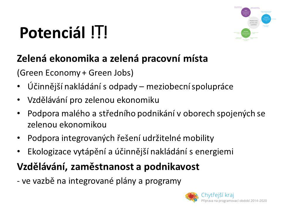 Potenciál Zelená ekonomika a zelená pracovní místa