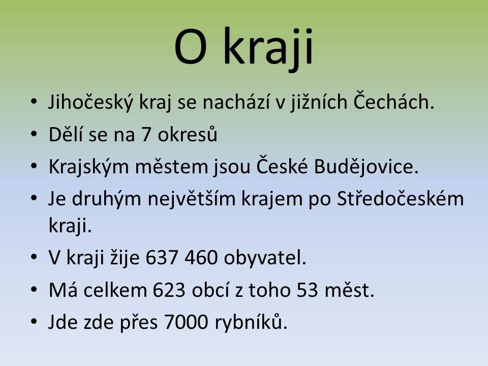 O kraji Jihočeský kraj se nachází v jižních Čechách.