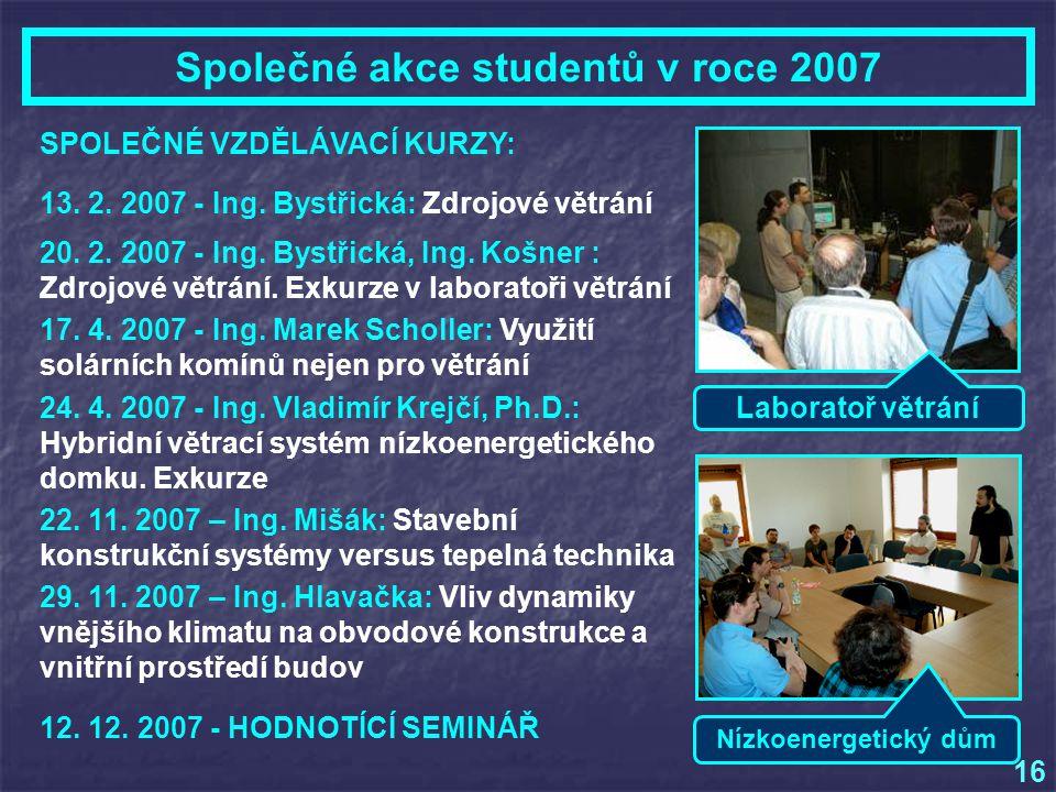 Společné akce studentů v roce 2007