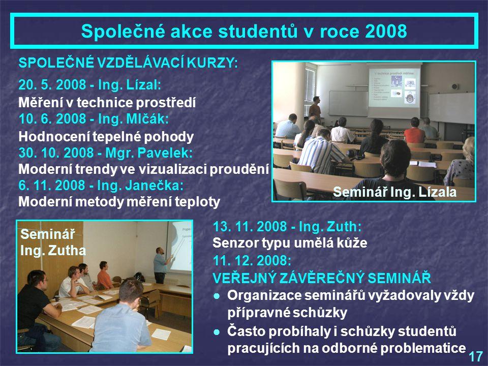 Společné akce studentů v roce 2008