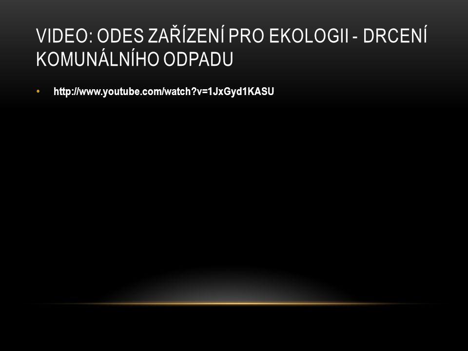 Video: ODES Zařízení pro ekologii - drcení komunálního odpadu