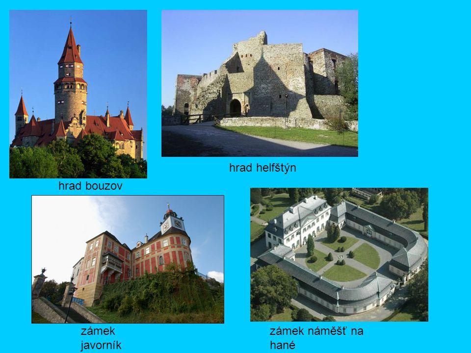 hrad helfštýn hrad bouzov zámek javorník zámek náměšť na hané