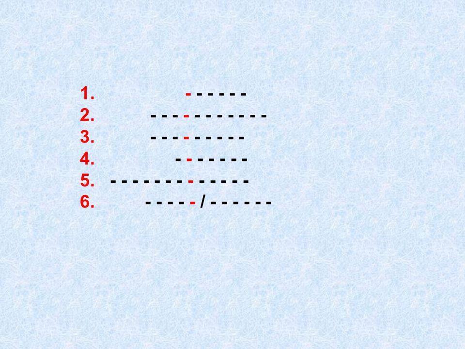 1. - - - - - - 2. - - - - - - - - - - - 3. - - - - - - - - - 4. - - - - - - -