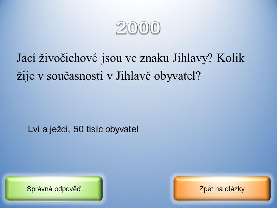 2000 Jací živočichové jsou ve znaku Jihlavy Kolik