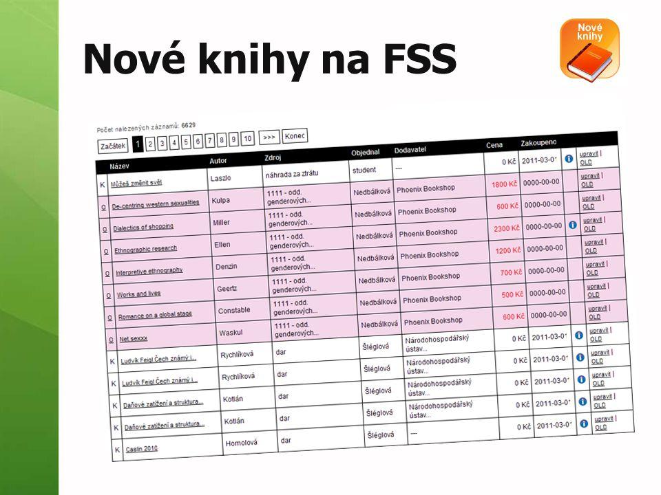 Nové knihy na FSS
