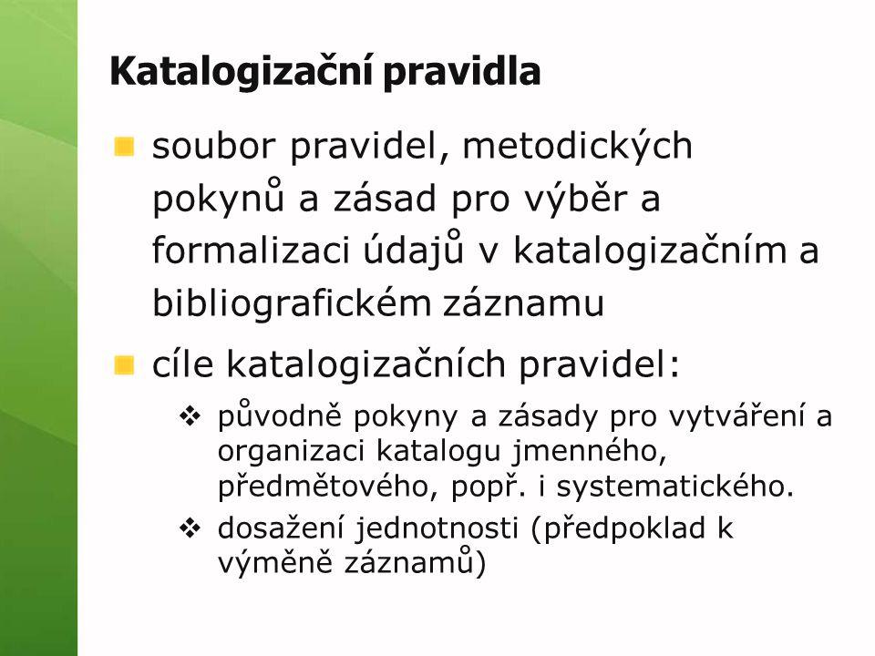 Katalogizační pravidla